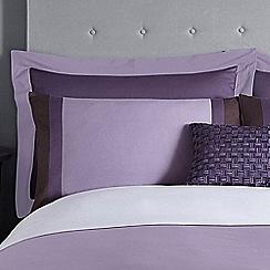 J by Jasper Conran - Purple 200 thread count 'Maddox' Oxford pillow case pair