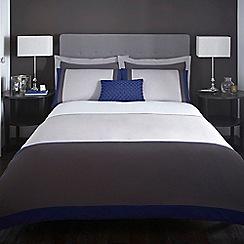 J by Jasper Conran - Designer grey 'Maddox' bed linen