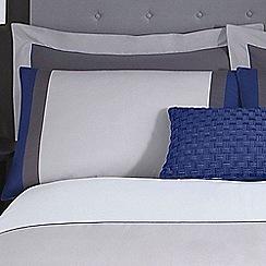 J by Jasper Conran - Grey 'Maddox' pillow case pair