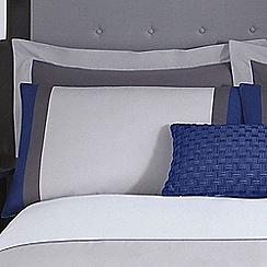 J by Jasper Conran - Grey 'Maddox' Oxford pillow case pair
