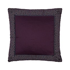 J by Jasper Conran - Designer 'Pembridge' purple polka dot border cushion