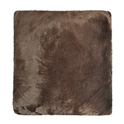 J by Jasper Conran - Designer chocolate faux fur cushion