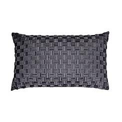 J by Jasper Conran - Designer grey lattice cushion