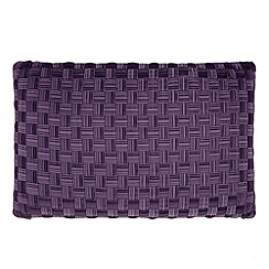 J by Jasper Conran - Designer purple lattice cushion