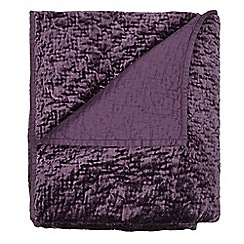 J by Jasper Conran - Designer purple textured velvet throw