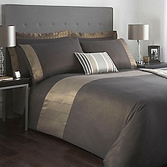 J by Jasper Conran - Designer dark grey 'Cavendish' bed linen