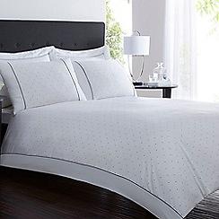 J by Jasper Conran - White polka dot 'Chartwell' bed linen