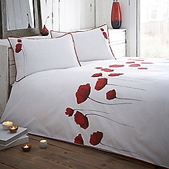 RJR.John Rocha - Red 'Poppies' duvet cover
