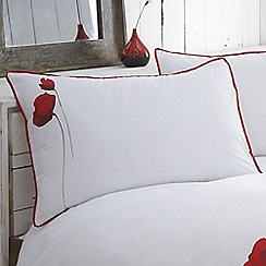 RJR.John Rocha - Red 'Poppies' 220 thread count pillow case pair