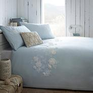 Blue 'Dawn' bed linen