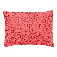 RJR.John Rocha - Coral crocheted front cushion
