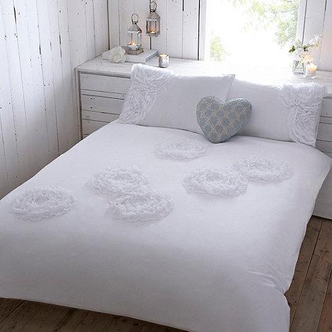 RJR.John Rocha - Designer white +Promise+ ruffled bed linen