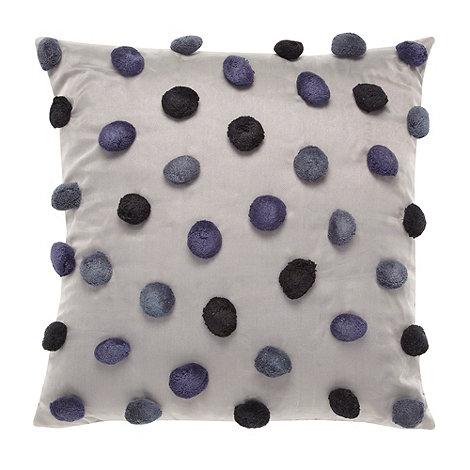 RJR.John Rocha - Designer blue pom pom cushion