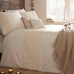 RJR.John Rocha - Designer cream 'Purity' bed linen