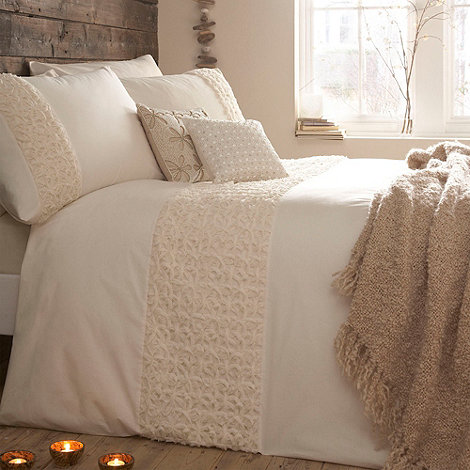 RJR.John Rocha - Designer cream +Purity+ bed linen