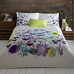 RJR.John Rocha - White 'Bliss' 220 thread count floral print duvet cover