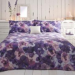 RJR.John Rocha - Designer purple pansies bed linen