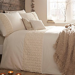 RJR.John Rocha - John Rocha cream 'Purity' bed linen