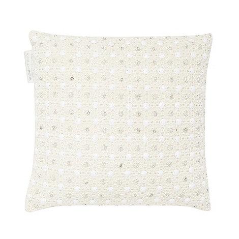 RJR.John Rocha - Designer embellished crochet cushion