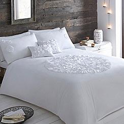 RJR.John Rocha - Designer white ruffle circle bed linen
