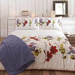 RJR.John Rocha - Red & Green 'Meadow' bed linen