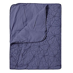 RJR.John Rocha - Designer purple quilted flower throw