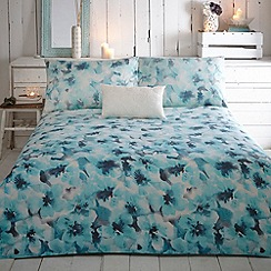 RJR.John Rocha - Designer turquoise 'Hope' cotton sateen bed linen