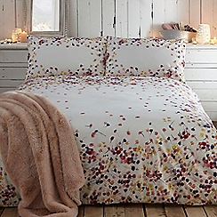 RJR.John Rocha - Designer cream 'Radiant' floral cotton sateen bed linen