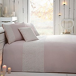 RJR.John Rocha - Designer pale pink 'Grace' bed linen