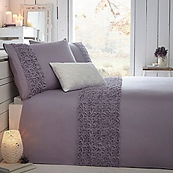 RJR.John Rocha - Designer lilac 'Purity' bed linen