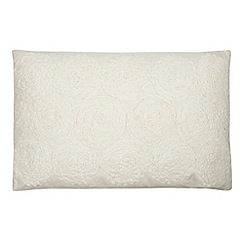 RJR.John Rocha - Designer off white applique floral cushion
