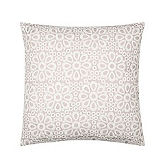 RJR.John Rocha - Designer pale pink embroidered floral cushion