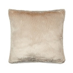 RJR.John Rocha - Designer natural faux fur cushion