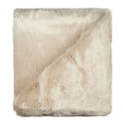 RJR.John Rocha - Designer soft pink faux fur throw