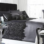 Silver 'Chantelle' lace bed linen