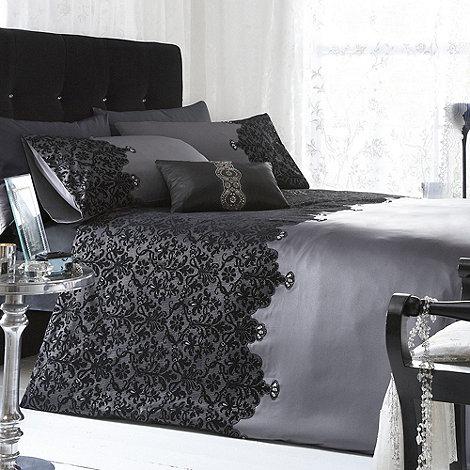 Star by Julien Macdonald - Silver +Chantelle+ lace bed linen