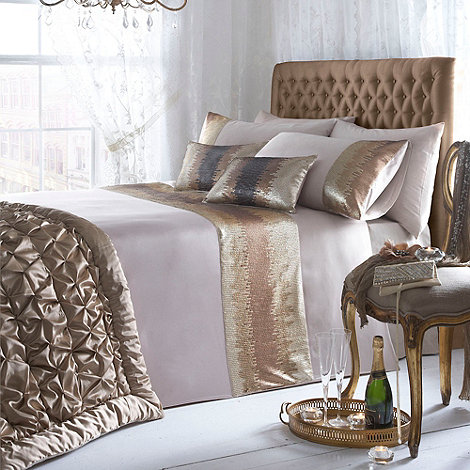 Star by Julien Macdonald - Gold 'Gabriella' satin trim bed linen