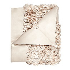 Star by Julien Macdonald - Designer gold ruffled throw