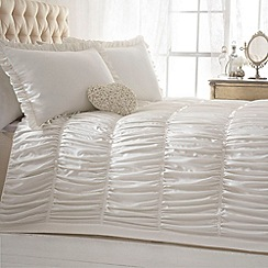 Star by Julien MacDonald - Designer ivory 'Palermo' matte satin bed linen