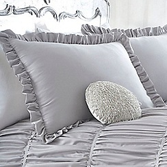 Star by Julien Macdonald - Silver 'Palermo' Oxford pillow case pair