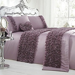Star by Julien Macdonald - Designer lilac 'Loretta' bed linen