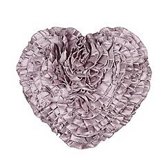 Star by Julien MacDonald - Designer lilac heart ruffle cushion