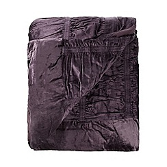 Star by Julien MacDonald - Designer plum velvet ruffle throw