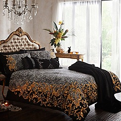 Star by Julien MacDonald - Designer grey 'Rosada' cotton sateen bed linen