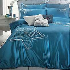Star by Julien Macdonald - Turquoise 'Dazzle' bed linen