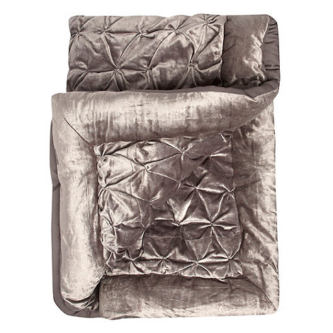 Star by Julien Macdonald - Silver pinched velvet throw