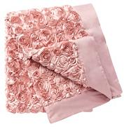 Pink rose bed runner