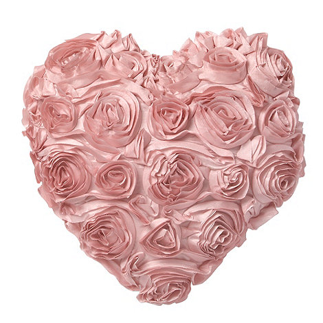 Star by Julien Macdonald - Pink rose heart cushion