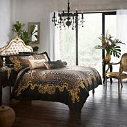 Black 'Safari' bed linen