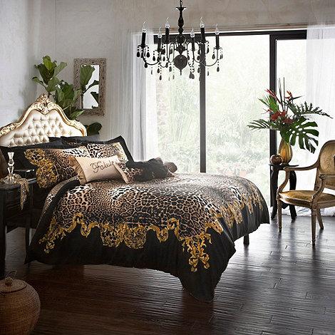 Star by Julien Macdonald - Black +Safari+ bed linen